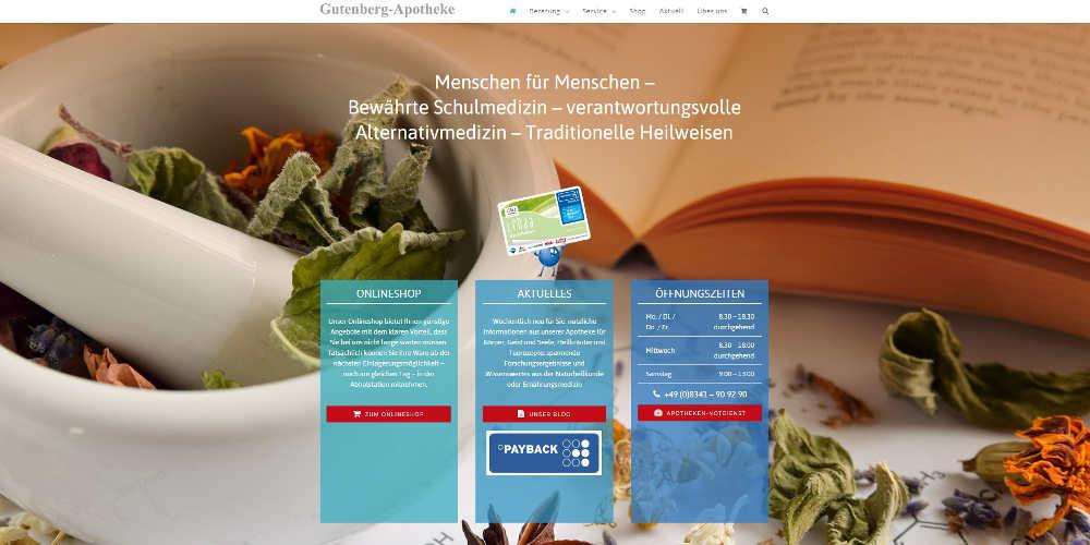 NETZBURG.DE Website Gutenberg-Apotheke